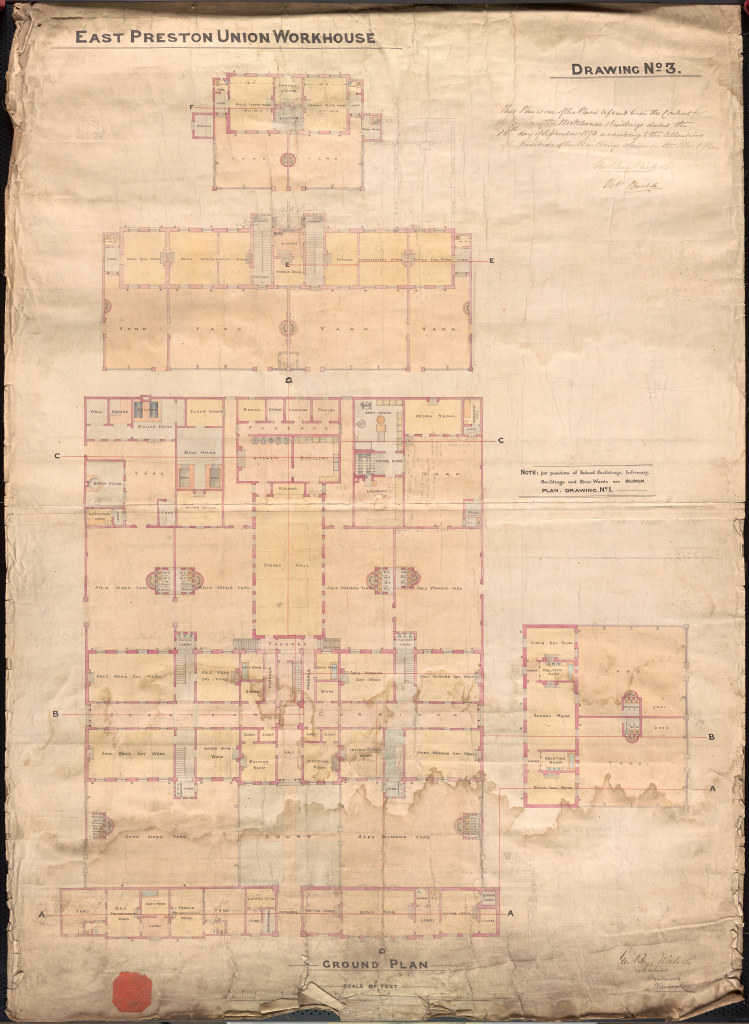 07 East Preston Workhouse Plans Dwg No 3