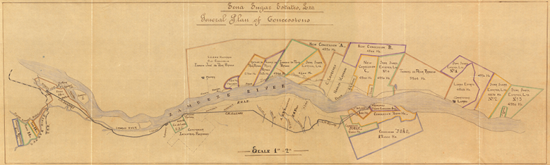 Acc 15353 Hornung - Map of Concessions on Zambezi River