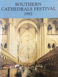 Southern Cathedrals Festival programme, 1992 (Lib 11763)