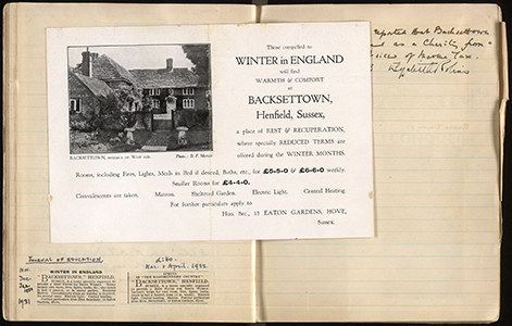 Further minutes from meeting of the Backsettown Committee, with publicity leaflet (AM 561/1)