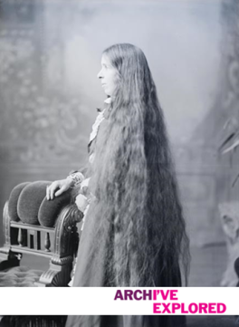 Long hair with brand