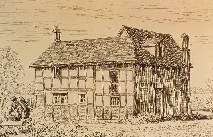 Drawing of the Thakeham Blue Idol Meeting House