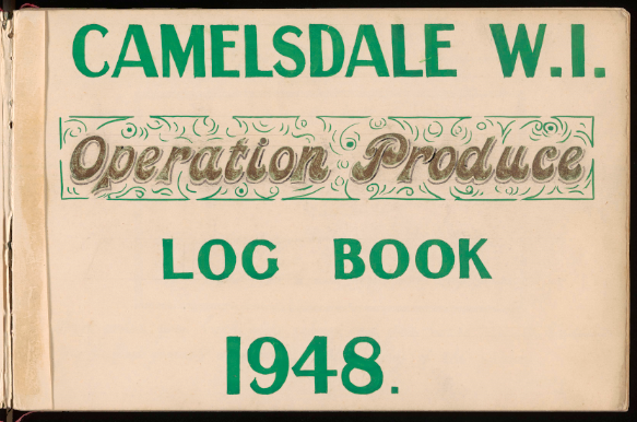 Log book created by Camelsdale WI to record the making and collecting of produce.