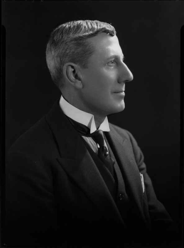 Black and white photograph of Edwin Charles Fox in profile.