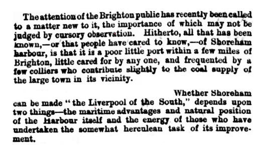 Article on Shoreham's title of the Liverpool of the South